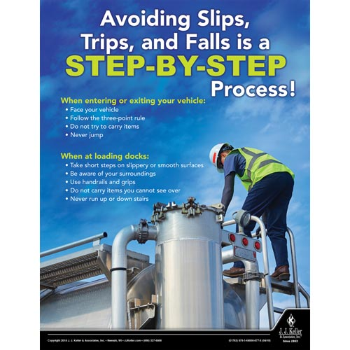 Avoiding Slips, Trips and Falls - Driver Awareness Safety Poster (013120)