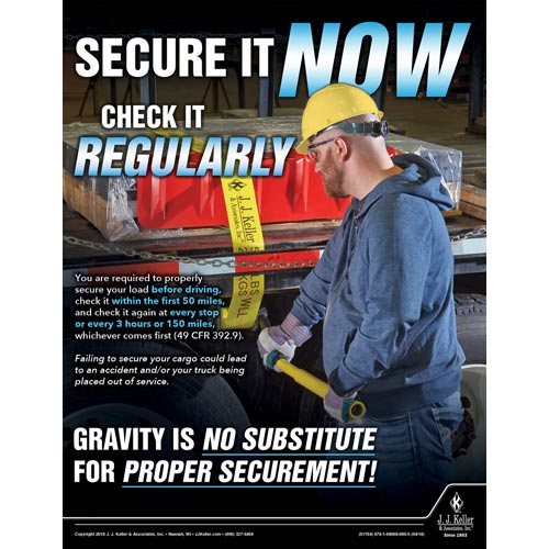 Secure It Now Check It Regularly -  Motor Carrier Safety Poster (013124)
