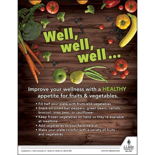 Improve Your Wellness - Health & Wellness Awareness Poster (013126)