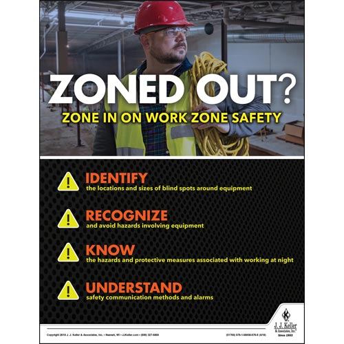 Work Zone Safety - Construction Safety Poster (013119)