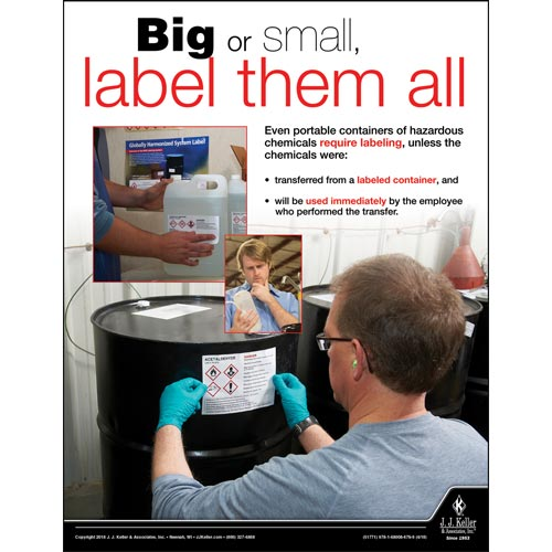 Label Them All - Workplace Safety Advisor Poster (013123)