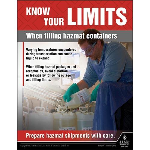 Filling Hazmlat Containers - Hazmat Transportation Poster (013133)