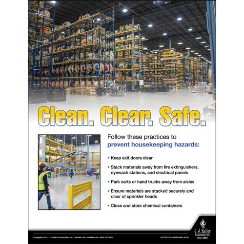 Clean, Clear and Safe - Workplace Safety Advisor Poster (013134)