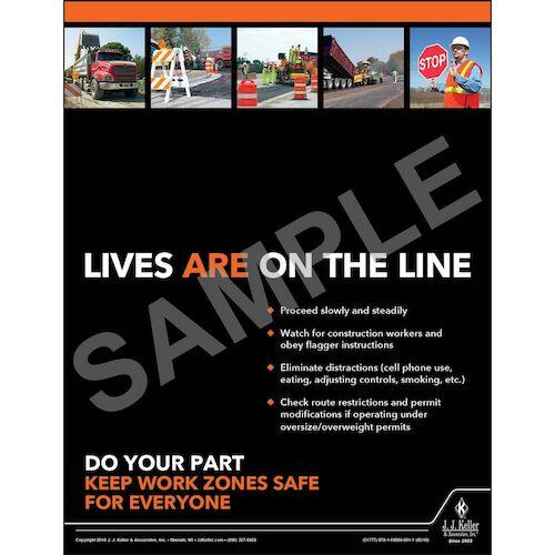 Work Zones Safe - Motor Carrier Safety Poster (013136)