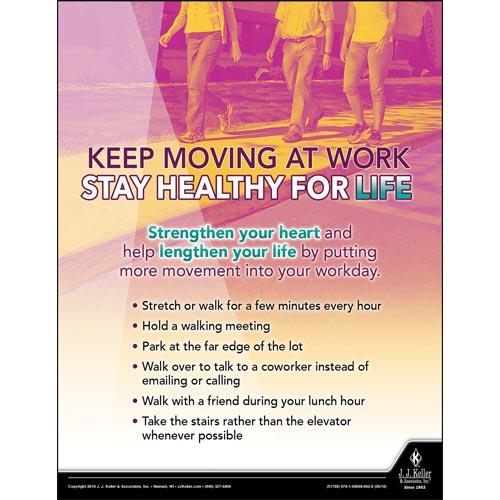 Keep Moving At Work - Health & Wellness Awareness Poster (013137)
