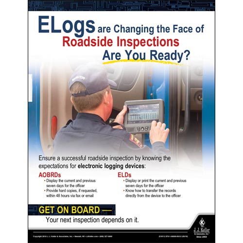 Elogs and Roadside Inspections - Transport Safety Risk Poster (013138)