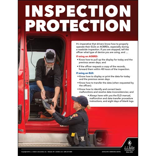 Inspection Protection - Transportation Safety Poster (013139)