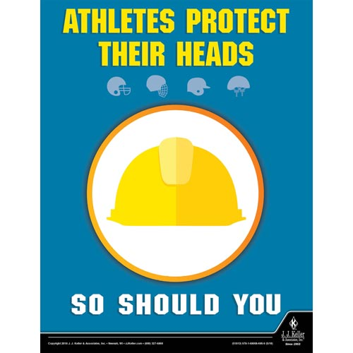 """Protect Your Head - Workplace Safety Training Poster (013140)"