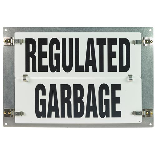 Flip-File Sign, Regulated Garbage, Medium, 1-Legend (013238)