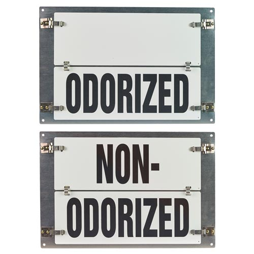 Flip-File Sign, Odorized/Non-Odorized, Medium, 2-Legend (013239)