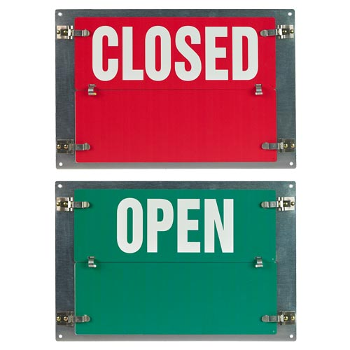 Flip-File Sign, Closed/Open, 2-Legend (013242)
