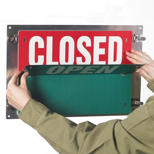 flip Over Details about  /Open Sign Closed Sign