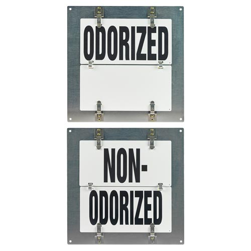 Flip-File Sign, Odorized/Non-Odorized, Small, 2-Legend (013247)
