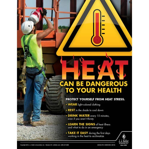 Heat Can Be Dangerous - Construction Safety Poster (013375)