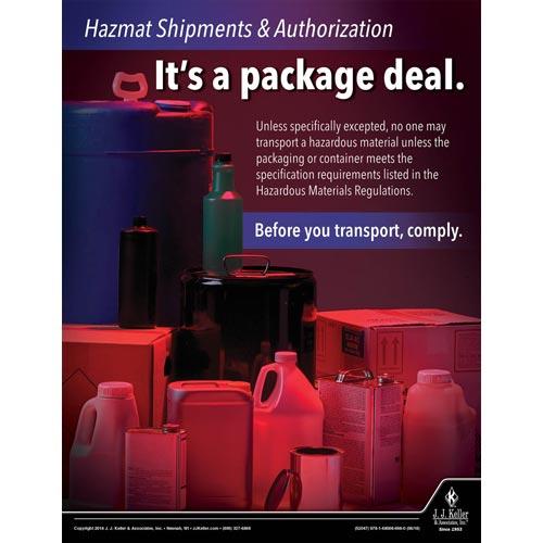 Hazmat Shipments and Authorization - Hazmat Transportation Poster (013378)