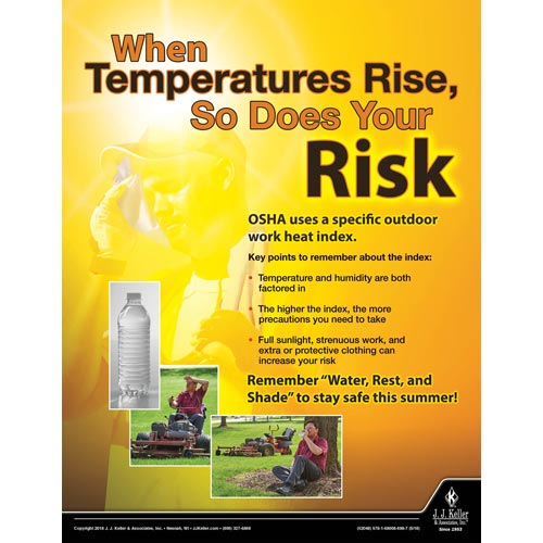 When Temperatures Rise - Workplace Safety Advisor Poster (013379)