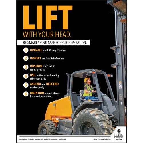 Be Smart About Safe Forklift Operation - Construction Safety Poster (013386)