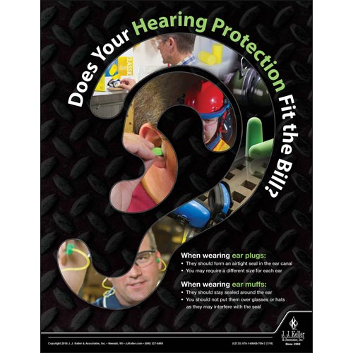 Does Your Hearing Protection Fit The Bill - Workplace Safety Advisor Poster (013390)
