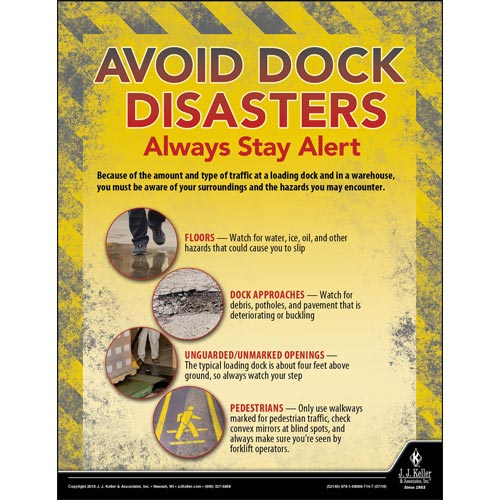 Avoid Dock Disasters Always Stay Alert - Transportation Safety Poster (013395)