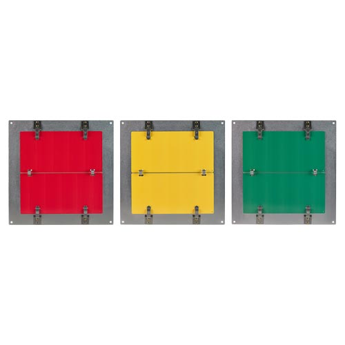 Flip-File Sign, Red/Yellow/Green, 3-Legend (013447)