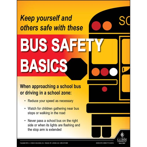 Bus Safety Basics - Driver Awareness Safety Poster (013452)
