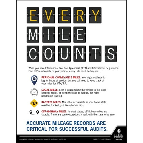 Every Mile Counts - Motor Carrier Safety Poster (013457)