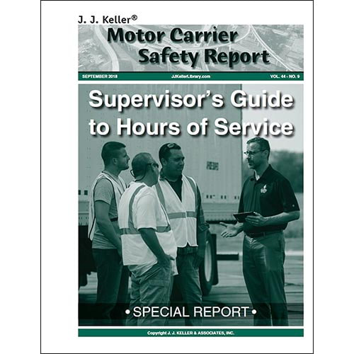 Special Report: Supervisor's Guide to Hours of Service (07950)
