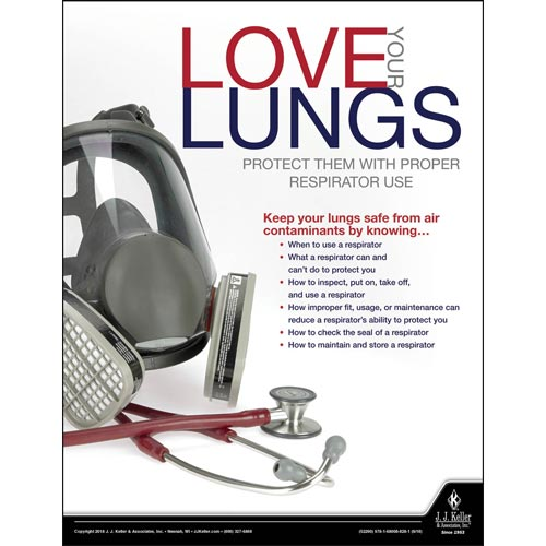 Love Your Lungs - Construction Safety Poster (014585)