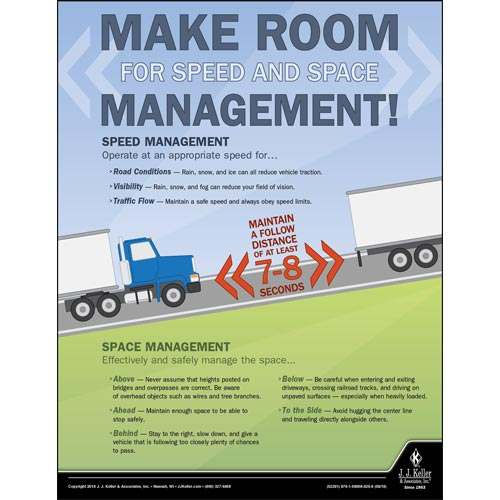Speed and Space Management - Driver Awareness Safety Poster (013469)
