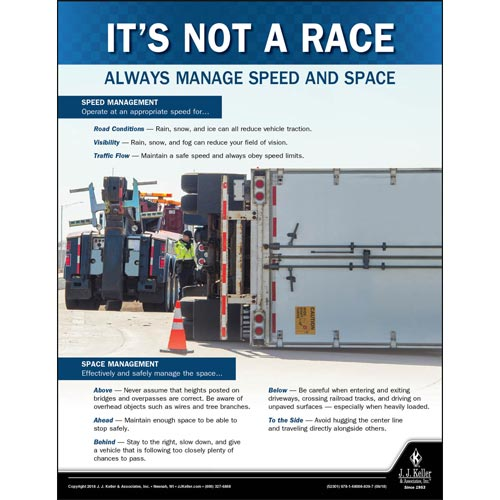 Always Manage Speed and Space - Transportation Safety Poster (013477)