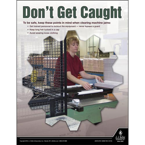 Don't Get Caught - Workplace Safety Advisor Poster (013483)