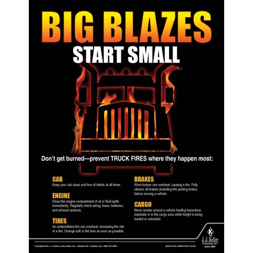 Big Blazes Start Small - Driver Awareness Safety Poster (013480)