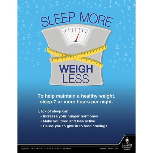 Sleep More Weigh Less - Health & Wellness Awareness Poster (013486)