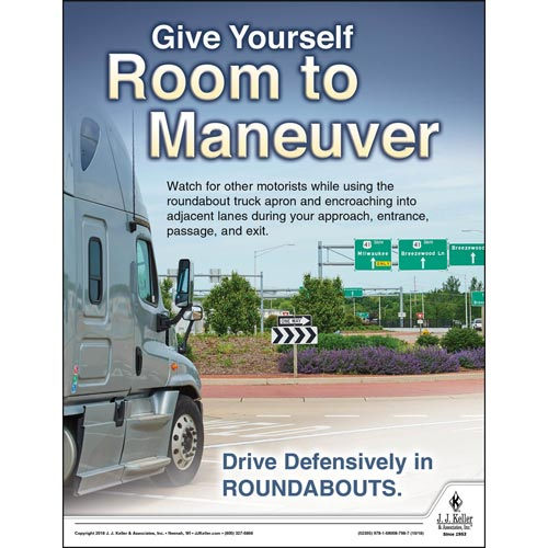 Give Yourself Room To Maneuver - Transport Safety Risk Poster (013487)