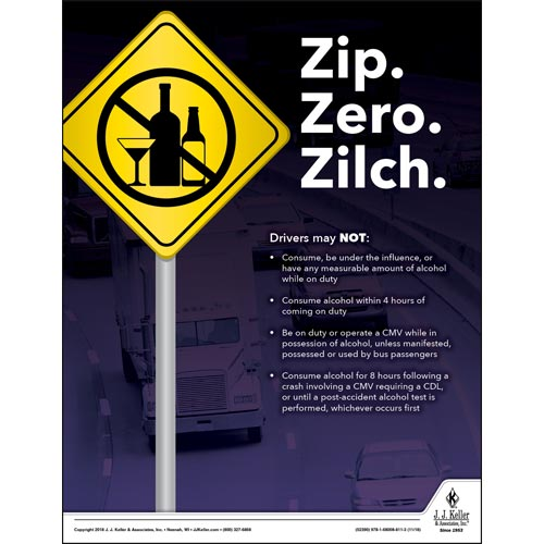 Zip. Zero. Zilch - Transportation Safety Risk Poster (014696)