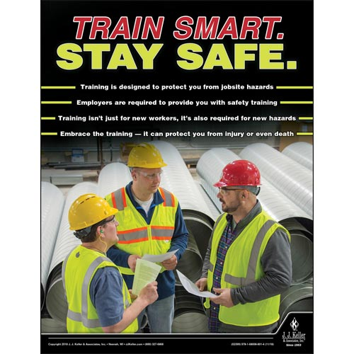 Train Smart. Stay Safe. - Construction Safety Poster (013497)