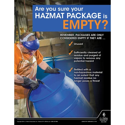 Are You Sure Your Hazmat Package is Empty - Hazmat Transportation Poster (013500)