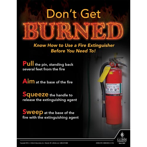 Don't Get Burned - Workplace Safety Advisor Poster (013501)