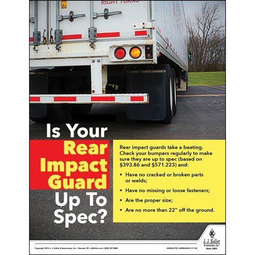 Rear Impact Guard - Motor Carrier Safety Poster (013502)