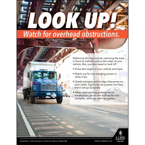 Watch For Overhead Obstructions - Motor Carrier Safety Poster (013503)