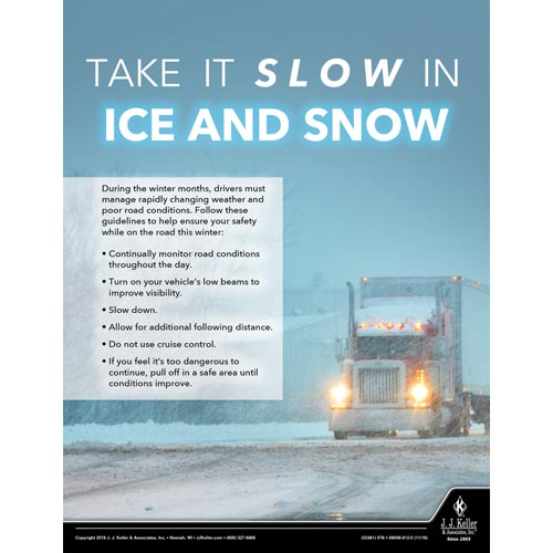 Take It Slow In Ice And Snow - Transportation Safety Poster (013506)