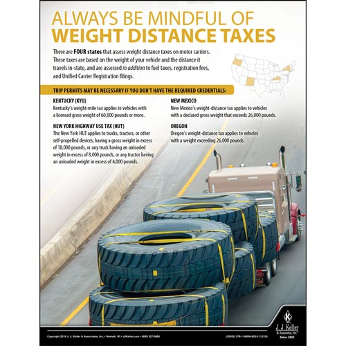 Weight Distance Taxes - Motor Carrier Safety Poster (013911)
