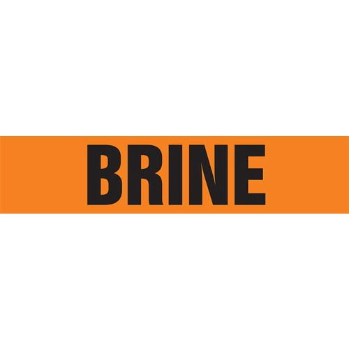 Brine Pipe Marker - ASME/ANSI (013702)