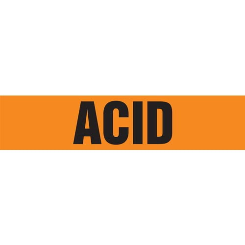 Acid Pipe Marker - ASME/ANSI (013685)