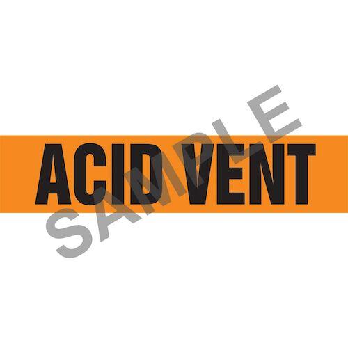 Acid Vent Pipe Marker - ASME/ANSI (013686)