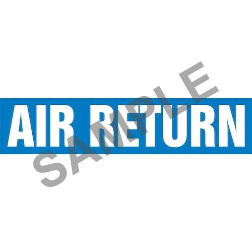 Air Return Pipe Marker - ASME/ANSI (013948)