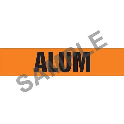 Alum Pipe Marker - ASME/ANSI (013691)