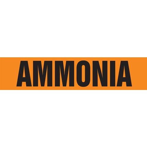 Ammonia Pipe Marker - ASME/ANSI (013949)