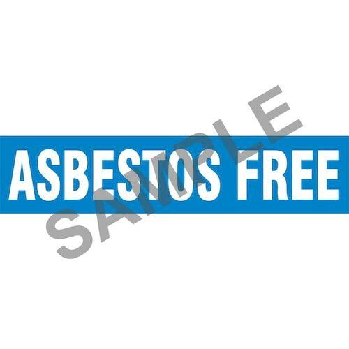 Asbestos Free Pipe Marker - ASME/ANSI (013693)