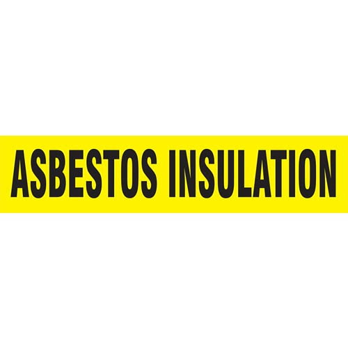 Asbestos Insulation Pipe Marker - ASME/ANSI (013695)
